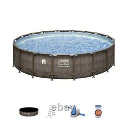 Coleman Deluxe18ft 18x48 intex Above Ground Swimming Pool Summer Wave Inflatable