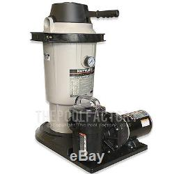 HAYWARD EC-40 PERFLEX D. E. Above Ground Swimming Pool Filter System with1HP Pump
