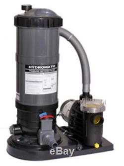 Hydro Cartridge Filter and Pump Combo for Above Ground Pool