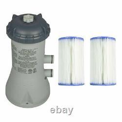 Intex 1000 GPH Easy Set Above Ground Swimming Pool Filter Pump System + Filters