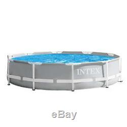 Intex 10 Foot x 30 Inches Above Ground Pool with 330 GPH Filter Pump (Open Box)