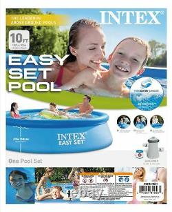 Intex 10 x 30 Easy Set Above Ground Swimming Pool with 330 GPH Filter Pump 28121EH