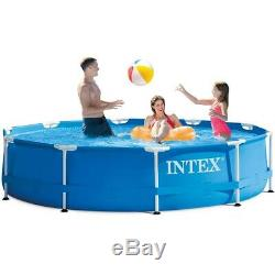 Intex 10' x 30 Metal Frame Above Ground Pool with Filter Pump