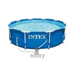 Intex 10' x 30 Metal Frame Above Ground Swimming Pool Set with Filter Pump