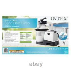 Intex 1200 GPH Above Ground Pool Sand Filter Pump with Automatic Timer (Used)