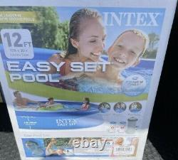 Intex 12 ft x 30 in Easy Set Above Ground Pool With Filter Pump IN-HAND