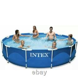Intex 12' x 30 Metal Frame Above Ground Pool with Filter Pump SHIP TO PR