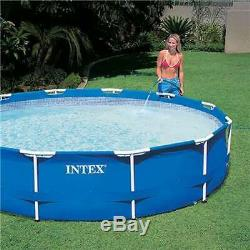 Intex 12' x 30 Metal Frame Above Ground Swimming Pool with Filter (For Parts)