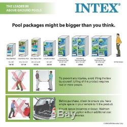 Intex 12' x 30'' Metal Frame Above Ground Swimming Pool with Filter Pump W