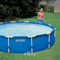 Intex 12' x 30 Metal Frame Round Above Ground Pool with Filter Pump IN HAND