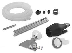 Intex 12' x 30 Metal Frame Set Above Ground Swimming Pool, Filter, Cover, & Vac
