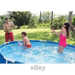 Intex 12' x 30 Metal Frame Set Above Ground Swimming Pool with Filter 28211EH