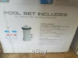 Intex 12 x 30 Metal Frame Set Above Ground Swimming Pool with Filter & Pump NEW