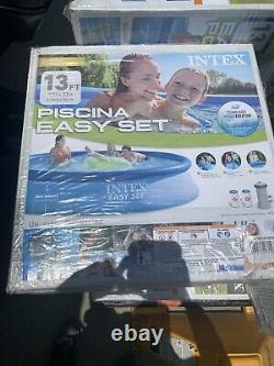 Intex 13ft X 33in Easy Set Above Ground Swimming Pool with 530 GPH Filter Pump