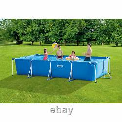 Intex 14ft x 33in Rectangular Above Ground Backyard Swimming Pool with Filter