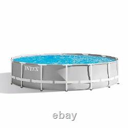 Intex 14ftx42in Prism Frame Above Ground Swimming Pool Set withFilter (For Parts)