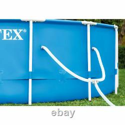 Intex 14ftx42in Prism Metal Frame Above Ground Swimming Pool+Pump+Ladder+Cover
