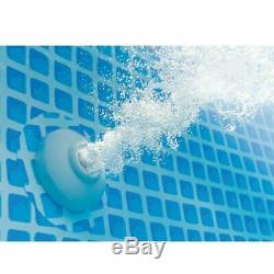 Intex 15 Foot x 42 Inch Prism Frame Above Ground Swimming Pool Set with Filter