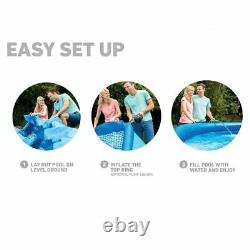 Intex 15' x 48 Easy Set Above Ground Swimming Pool with 1000 GPH Filter Pump