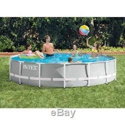 Intex 15ft x 42in Prism Frame Above Ground Pool Set with Filter (For Parts)