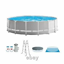 Intex 15ft x 48in Prism Above Ground Swimming Pool Set with Ladder and Cover