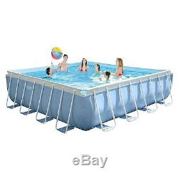 Intex 16' x 48 Prism XL Frame Square Above Ground Pool Set with Filter Pump