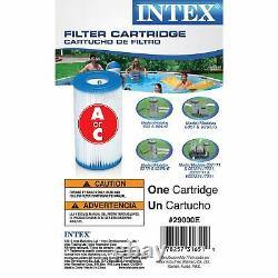 Intex 16ft x 3.5ft Prism Frame Rectangle Pool & Type A Filter Cartridge (6 Pack)