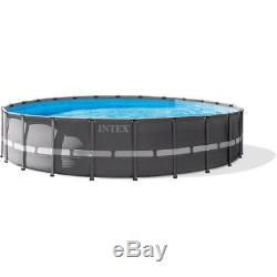 Intex 18' x 48 Ultra Frame Above Ground Swimming Pool with Filter Pump and Ladder