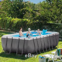 Intex 18' x 9' x 52 Ultra Frame Above Ground Swimming Pool with Filter Pump Kit