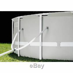 Intex 20 Foot x 52 Inch Prism Frame Above Ground Swimming Pool with Filter Pump
