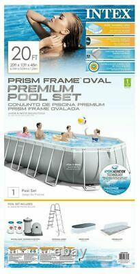 Intex 20ft X 10ft X 48in Prism Frame Oval Above Ground Pool Set