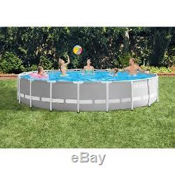 Intex 20ft x 52in Prism Frame Above Ground Pool Set with Filter Pump (Open Box)