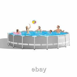 Intex 20ft x 52in Prism Frame Above Ground Swimming Pool Set with Filter Pump