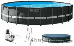 Intex 22Ft x 52In Ultra XTR Frame Round Above Ground Swimming Pool Set with Pump