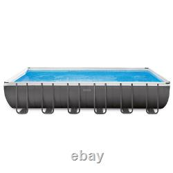 Intex 24ft x 12ft x 52in Ultra XTR Rectangular Pool, Floats (2 Pack) and Cooler