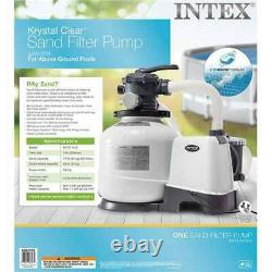 Intex 2800 GPH Above Ground Pool Sand Filter Pump (For Parts) (2 Pack)