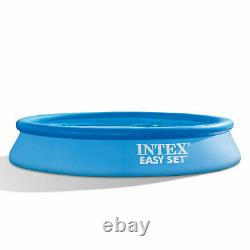 Intex 28117EH 10' x 24 Easy Set Inflatable Above Ground Swimming Pool with Filter