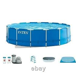 Intex 28253EH 18'x48 Above Ground Metal Frame Pool Set With Filter And Pump