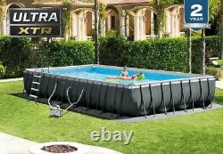 Intex 32'X 16'X 52In Ultra Frame Rectangular Above Ground Pool with Sand filter