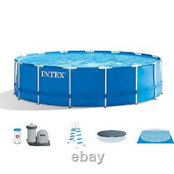 Intex Above Ground 15ft x 48in Pool, 6 Filter Cartridges + Natural PHOSfree
