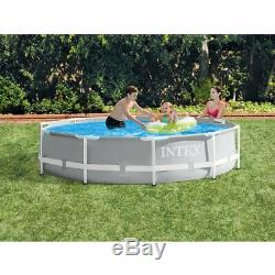Intex Above Ground Swimming Pool with Filter Pump & Swimming Pool Cleaning Kit