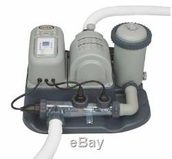 Intex Cartridge Filter Pump And Salt Water System For Aboveground Swimming Pool