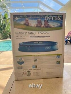Intex Easy Set 15' x 33 Above Ground Pool Set with Filter Pump 28157EH Ships ASAP