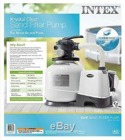 Intex Krystal Clear 1200 3000 GPH Above Ground Swimming Pool Sand Filter Pump