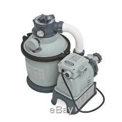 Intex Krystal Clear Sand Filter Pump for Above Ground Pools 10-inch 110-120V