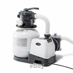 Intex Krystal Clear Sand Filter Pump for Above Ground Pools, 12-inch, 110-120V