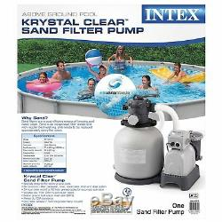 Intex Krystal Clear Sand Filter Pump for Above Ground Pools, 14-inch, 110-120