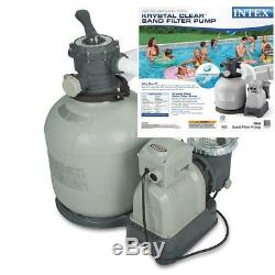 Intex Krystal Clear Sand Filter Pump for Above Ground Pools, 16-inch