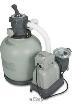 Intex Krystal Clear Sand Filter Pump for Above Ground Pools, 16-inch, 110-120V w