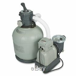Intex Krystal Clear Sand Filter Pump for Above Ground Pools 16inch 110-120V/GFCI